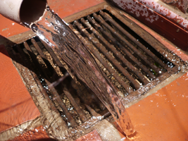 clogged drain requires intensive drain clearing